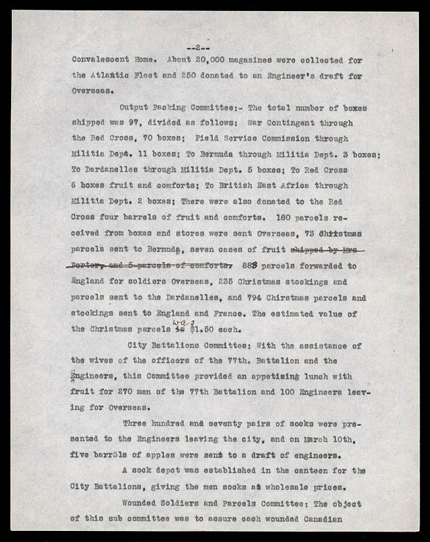 MG28-I35, vol. 6, World War I Word of the Ottawa Women's Canadian Club (2 of 2) Reports, 1915-1919
