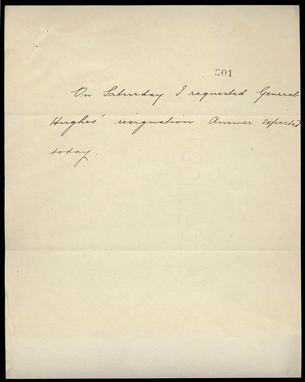 Handwritten note.