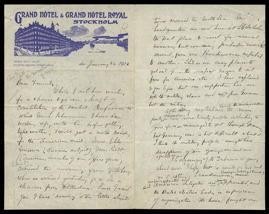 Letter from Julia Grace Wales