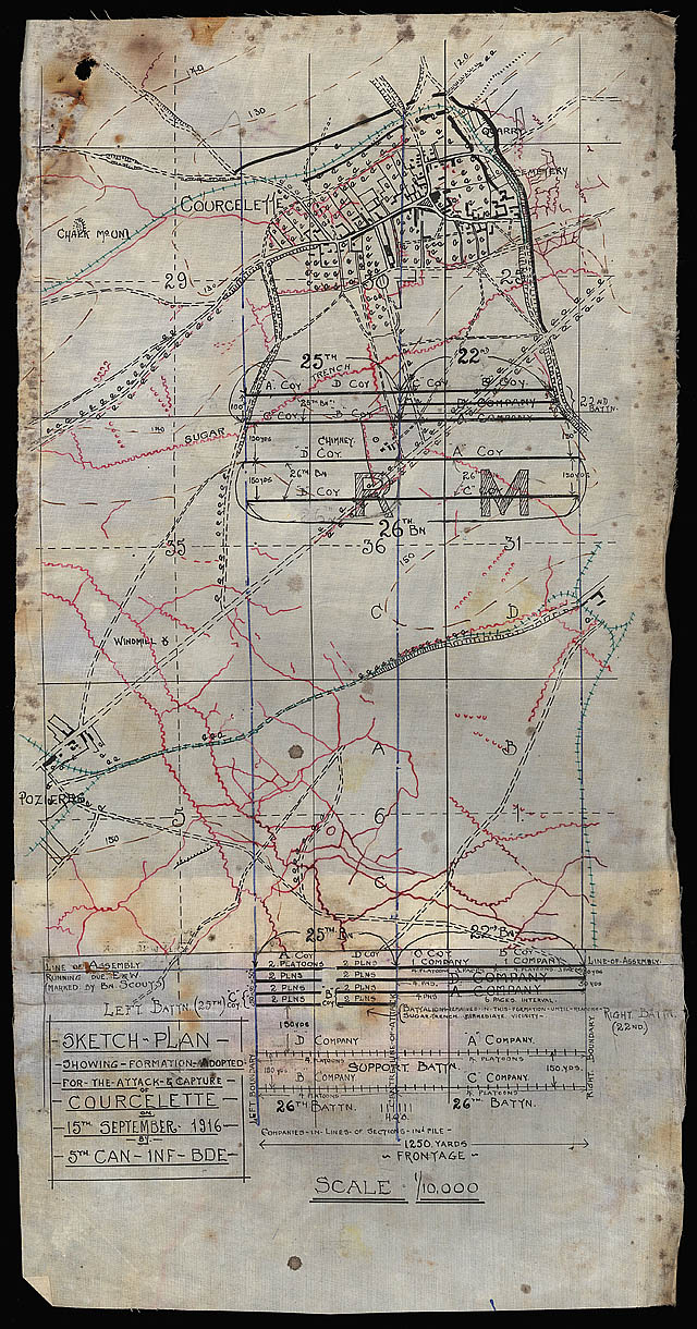 Fabric map of Courcelette.