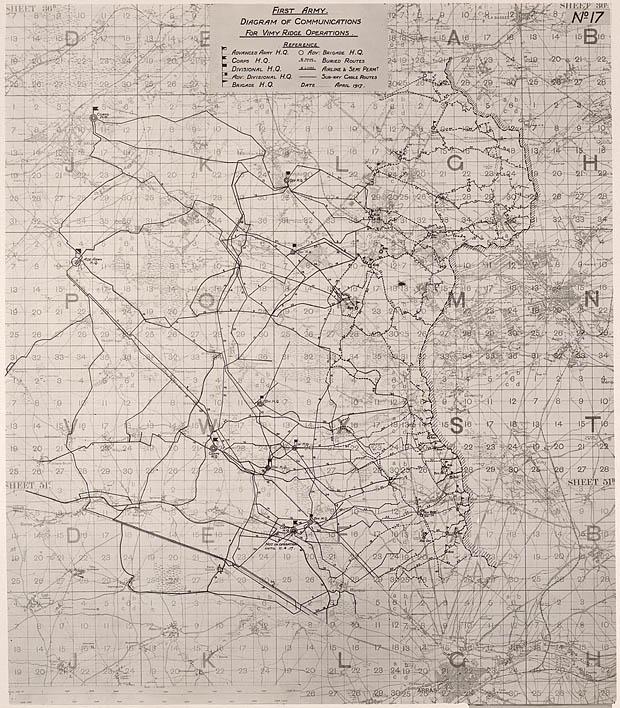 Map of the communications plan
