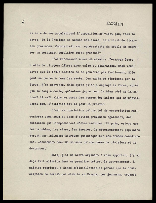 Biblioth&#232;que et Archives Canada / MG 26 H, vol. 219, dossier RLB 1430, pages 123403-123406, bobine C-4403