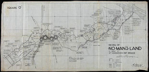 Carte du « no man's land »