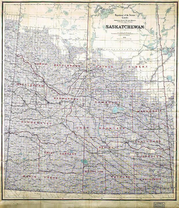 Carte de Saskatchewan.