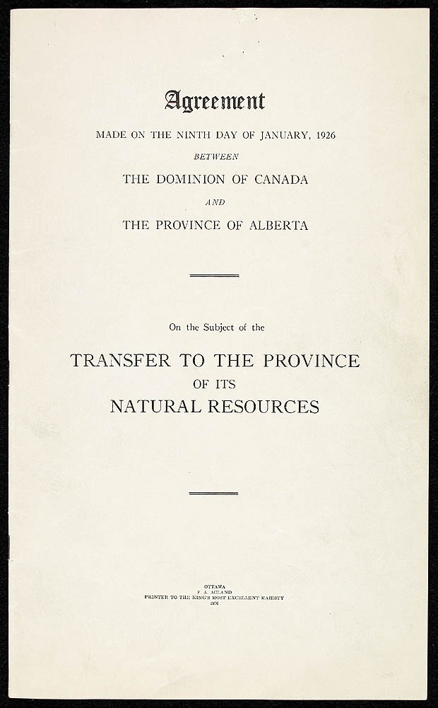 Archived  Agreement To Transfer Natural Resource Administration To