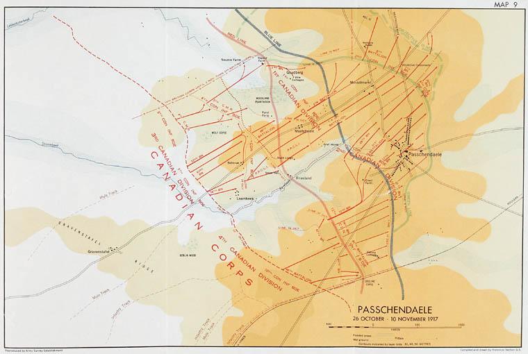 Map - Passchendaele