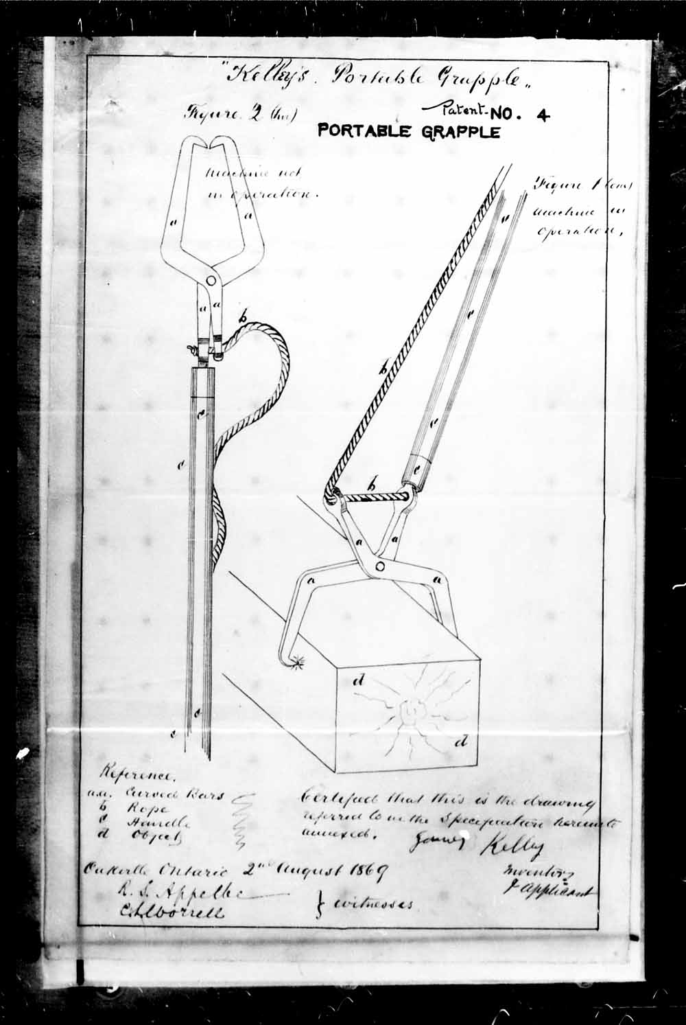 A MACHINE FOR GRAPPLING, FASTENING UPON, AND DRAWING OR MOVING WEIGHTS, p. 4