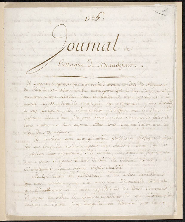 Campain journal of M. de L�vis