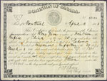 Head-tax certificate dated April 8, 1908