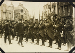 Photograph of French soldiers onparade, Le Trport, France, ca. 1916-1917