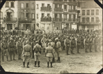 Photograph of French soldiers on parade, Le Trport, France, ca. 1916-1917