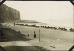 Photograph of Belgian cavalry on the beach, Le Tr�port, France, ca. 1916-1917