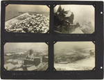 Page 4 from Alice Isaacson's photo album with four commercial photographs from Le Tréport, France, 1916-1917