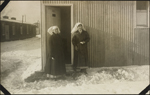 The section-sisters' hut: nursing sisters Kathleen Little (left) and Alice Isaacson, No. 2 Canadian General Hospital, Le Tr&#233;port, France