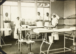 Photograph of five staff in the operating room, No. 2 Canadian General Hospital, Le Tr�port, France, 1917