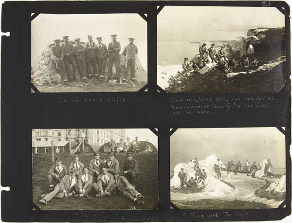 Page 21 of First World War nursing sister Alice Isaacsons photo album showing people, places and events in England, France, Italy, Belgium, Ireland and Spain, 1916-1919