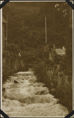 Photograph of the Lyn River, Lynmouth, England, unknown date