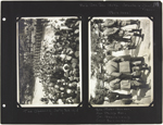 Page 111 from Alice Isaacson's photo album with two photographs of the official opening ceremony of No. 6 Canadian General Hospital, Joinville-le-Pont, France, July 3, 1918