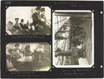 Page 140 from Alice Isaacson's photo album with three photographs of state visits, Paris, France, December 5 and 13, 1918