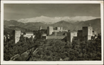 Photograph of the Alhambra, Granada, Spain, unknown date