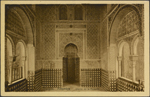 Photograph of the interior of La Mezquita, The Alhambra, Granada, Spain, unknown date