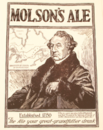 Molson's Ale advertisement with the image of Sir�John�A.�Macdonald, 1924