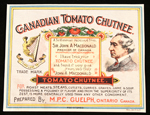 Canadian Tomato Chutnee label with endorsement of John�A.�Macdonald