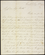 Lettre de Patrick Ferguson &#224; mademoiselle [Mary] Burke, Castleblakeney, Irlande. 28 nov. 1852. Page 1.