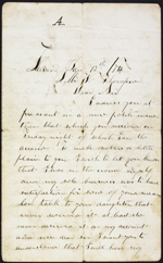 Letter from William Donnelly to W. Thompson, Lucan. Jan. 12, 1874. Page 1