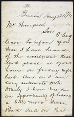 Letter from P. MC to W. Thompson, Lucan. Jan. 12, 1874. Page 1