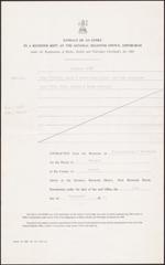 Copie de l'acte de naissance de JohnA.Macdonald, sur lequel figure la date du 10 janvier 1815