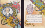Cover of a menu and toasts booklet for a banquet honouring Sir John A. Macdonald, hosted by the Liberal Conservative Party of Ontario on December�18,�1884