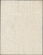 Lettre de Mary Westcott &#224; James R. Westcott, New York. Soir&#233;e du samedi 26 avril 1845. Page 1