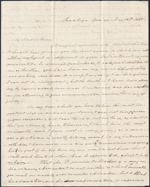 Letter from M.A. Westcott to Mary Westcott, Saratoga Springs. May 18, 1845. Page 1