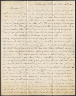 Letter from James R. Westcott to Louis-Joseph-Amédée Papineau, Saratoga Springs. June 20, 1845. Page 1