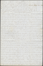 Letter from Mary Westcott to Louis-Joseph-Amédée Papineau, Saratoga Springs. Dec. 13[?], 1845. Page 1