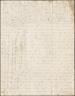 Letter from Mary Westcott to Louis-Joseph-Am&#233;d&#233;e Papineau, Saratoga Springs. Jan. 27, 1846. Page 1