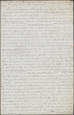 Letter from Mary Westcott to Louis-Joseph-Am&#233;d&#233;e Papineau, Saratoga Springs. March 12, 1846. Page 1