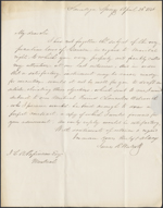 Letter from James R. Westcott to Louis-Joseph Am&#233;d&#233;e Papineau, Saratoga Springs. April 23, 1846. Page 1