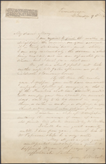 Letter from James R. Westcott to Mary Westcott [Papineau] [addressed to Louis-Joseph-Am&#233;d&#233;e Papineau], Ticonderoga. Wednesday, 9 o'clock, (received Thursday, June 4, 1846). Page 1