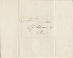 Letter from James R. Westcott to Louis-Joseph-Am&#233;d&#233;e Papineau, Saratoga Springs. Received June 25, 1843. Page 1