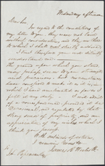Letter from James R. Westcott to Louis-Joseph-Amédée Papineau, Saratoga Springs. Received June 28, 1843. Page 1