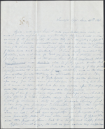 Letter from Mary Westcott to Louis-Joseph-Amédée Papineau, Saratoga Springs. June 30, 1843. Page 1