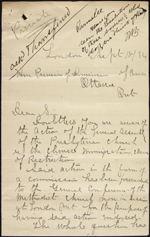 Handwritten document