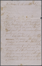 Letter from Wilfrid Laurier to Zoé Lafontaine, Victoriaville. April 16, 1867. Page 1
