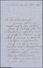 Letter from Wilfrid Laurier to Zoé Lafontaine, Arthabaskaville. Nov. 7, 1867. Page 1