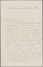 Letter from Wilfrid Laurier to Zo&#233; Lafontaine, Arthabaskaville. May 15, 1868. Page 1