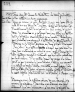 Journal entry by Am&#233;d&#233;e Papineau mentioning Mary Westcott. Thursday, December 1, 1842. Microfilm volume 33, p.&nbsp;222