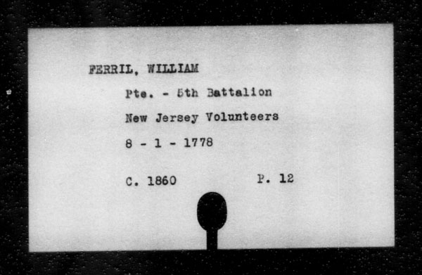 Title: British Military and Naval Records (RG 8, C Series) - INDEX ONLY - Mikan Number: 105012 - Microform: c-11812