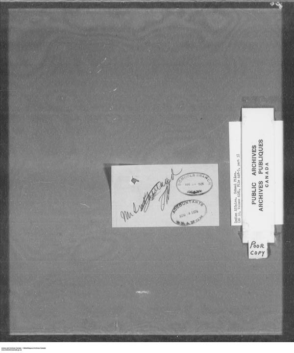 Title: School Files Series - 1879-1953 (RG10) - Mikan Number: 157505 - Microform: c-7918